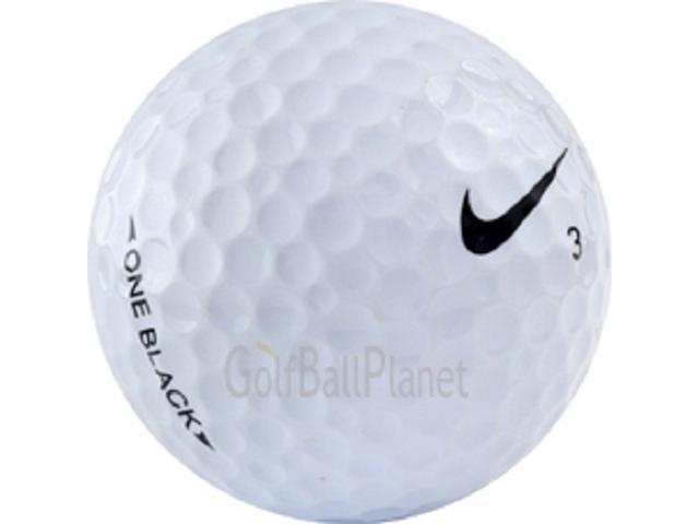 Black 36 Near Mint Nike One Used Golf Balls - Three Dozen