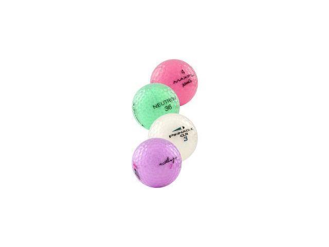 Crystal Mixed Colors Recycled Golf Balls, 48 Pack w/mesh bag (Colors May Vary)