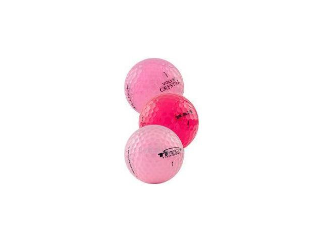 Pink Crystal Mix 60 AAA Pink Used Golf Balls - 5 Dozen