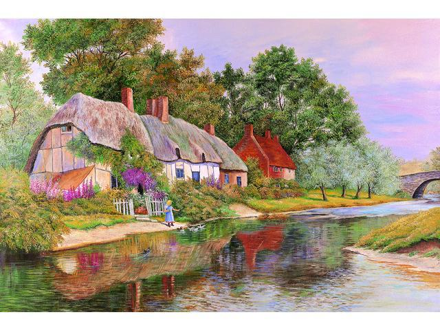 1,500 Pieces Jigsaw Puzzle - Little Girl by the Lake
