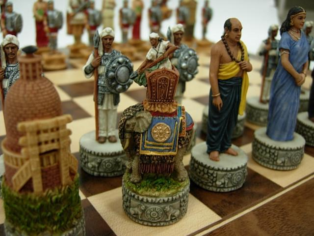 Chess Pieces - Alexander the Great & India