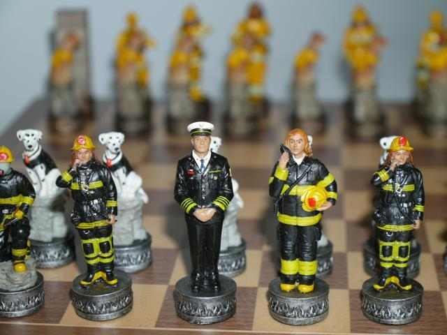 Chess Pieces - Firefighters