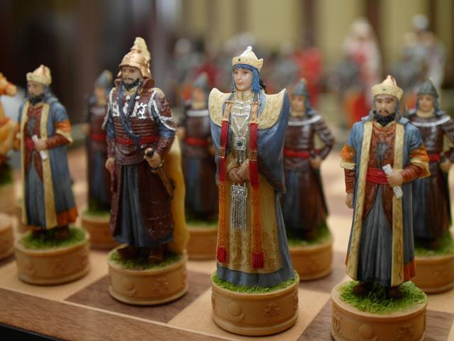 Chess Pieces - Mongolians and Russians