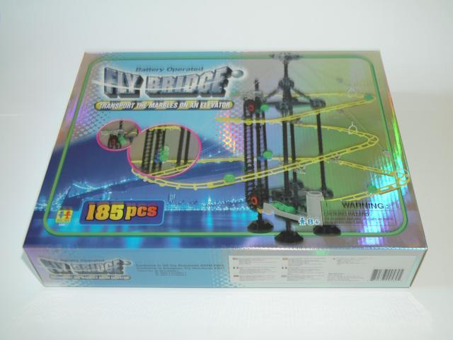 Fly Bridge - Glow-in-the-Dark Marble Run, 185 Pieces.