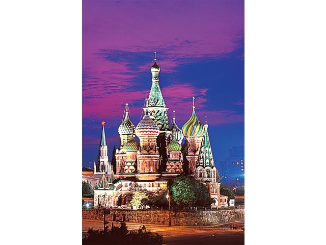 1,000 Pieces Jigsaw Puzzle - St. Basil's Cathedral, Moscow; Glow-in-the-Dark.