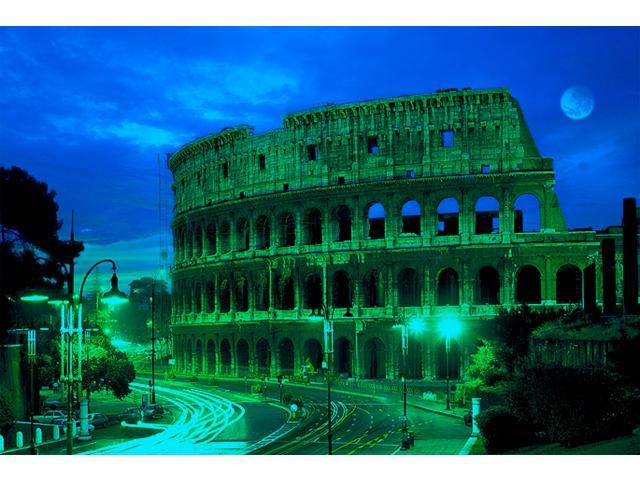 1,000 Pieces Jigsaw Puzzle - Rome, Colosseum; Glow-in-the-Dark.