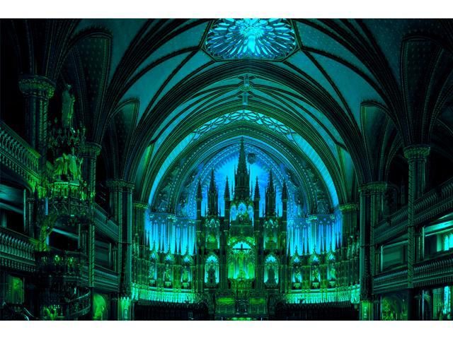 1,000 Pieces Jigsaw Puzzle - Notre-Dame De Montreal, Canada; Glow-in-the-Dark.