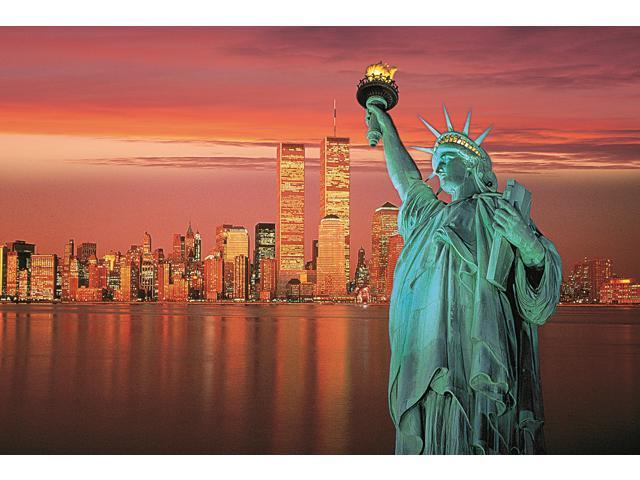 1,000 Oieces Jigsaw Puzzle - Statue of Liberty; Glow-in-th-Dark.