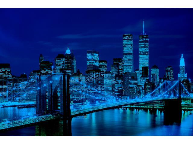 1,000 Pieces Jigsaw Puzzle - Brooklyn Bridge, USA; Glow-in-the-Dark.