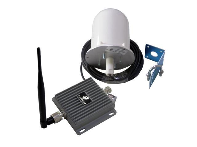 Phonetone 60dB 850MHz/1700MHz Mobile Phone Signal Booster Repeater Amplifier with Indoor Whip Antenna and Outdoor Broadband Omni Antenna