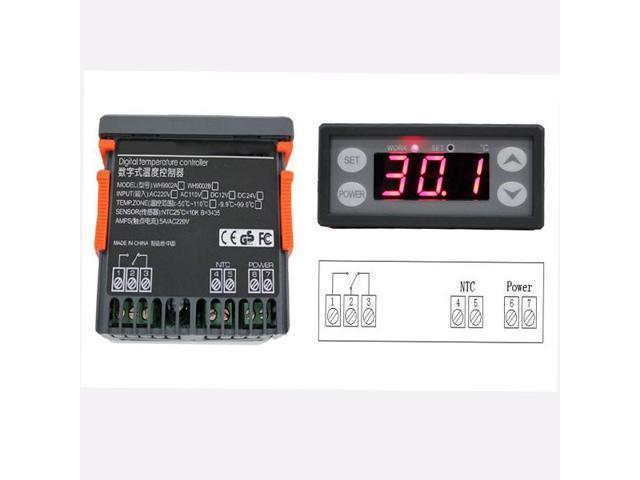 220V Digital Temperature Controller Thermostat WH9002A Control Accuracy