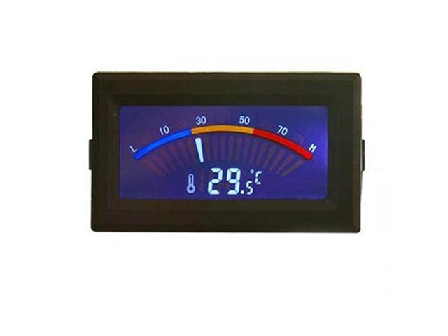 5V Digital Thermometer Temperature Meter Gauge Dual LCD -10-70degree Celsius