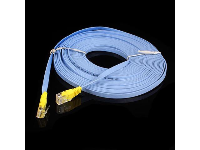 10m CAT6 Flat Gigabit Ethernet Patch Network LAN Cable 10GBase-T Rate