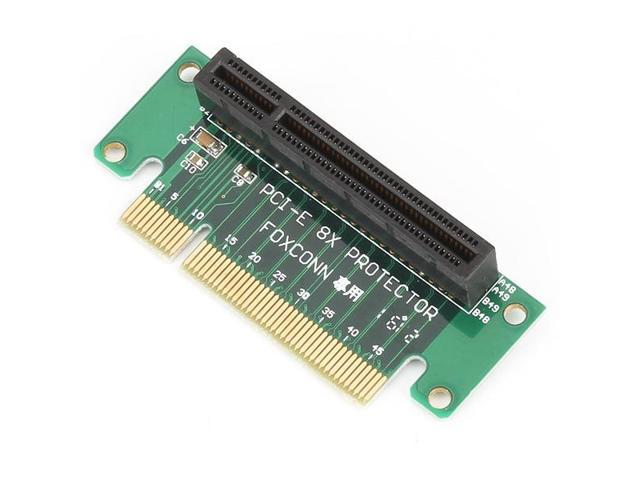 Green PCI-Express 8X Riser Card 4 Circuit Board Adapter