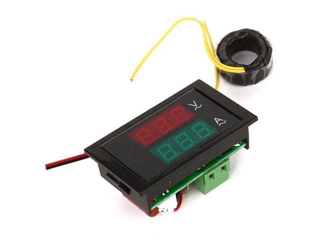 CT Dual Display Panel Meter AC 200-450V 100A  Amp Volt LED Meter