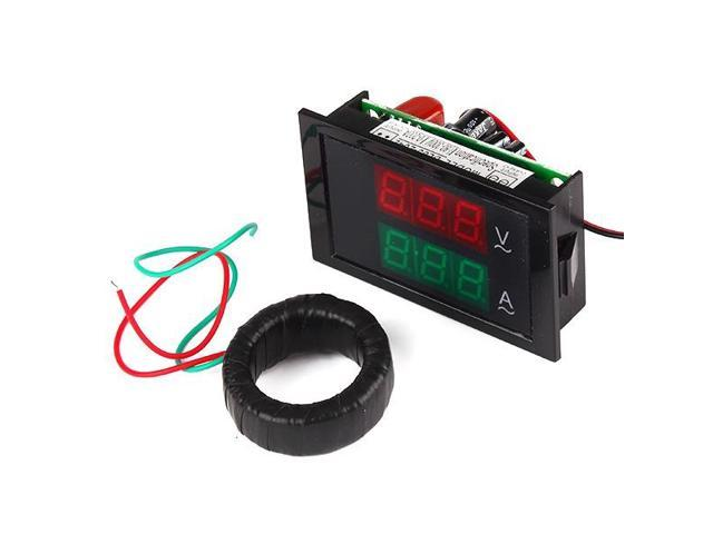 AC 80-300V 200A Amp Volt LED Meter Current Transformer Digital Dual Display