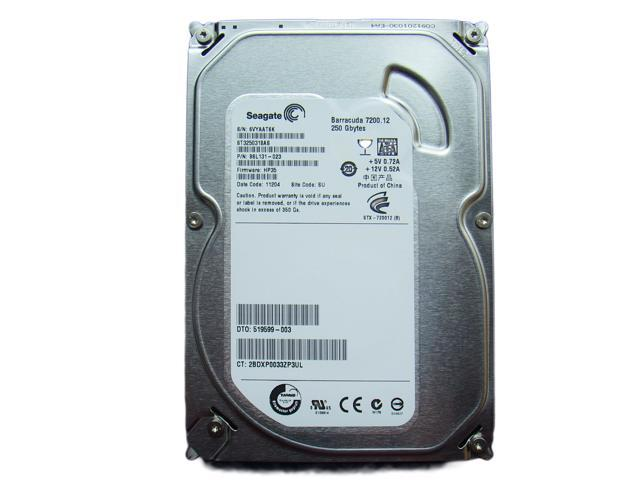 ST3250318AS Seagate Barracuda 7200.12 250GB 7200 RPM 8MB Cache SATA 3.0Gb/s 3.5
