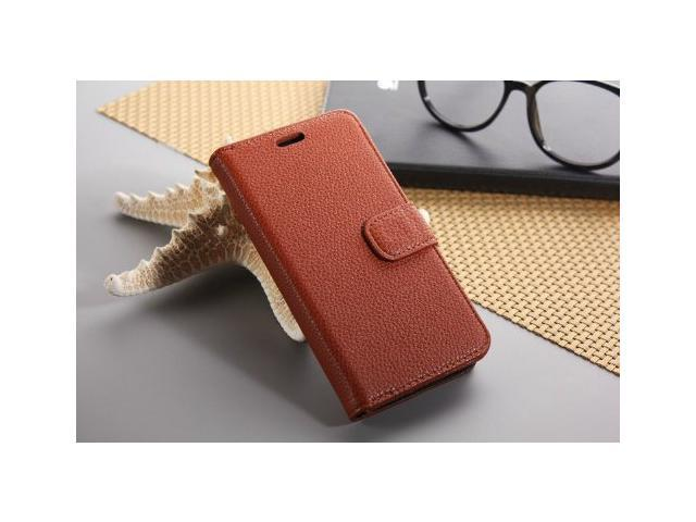 Euroge Tech® Litchi Skin Flip Leather Pouch Stand Cases Cover For Google Nexus 5(Light brown