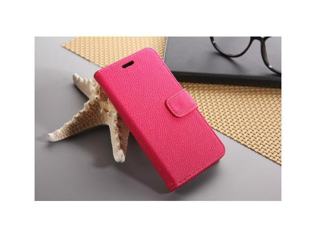 Euroge Tech® Litchi Skin Flip Leather Pouch Stand Cases Cover For Google Nexus 5(rose)