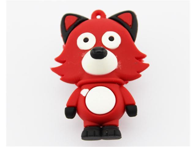Good Quality Genuine Full Capacity 32GB 32G Cartoon Red Fox Pen Drive Memory Stick Pendrive USB Flash Drive U Disk