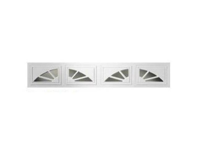 Clopay Sunset Short 2 Pc Arch Window Inserts White 8