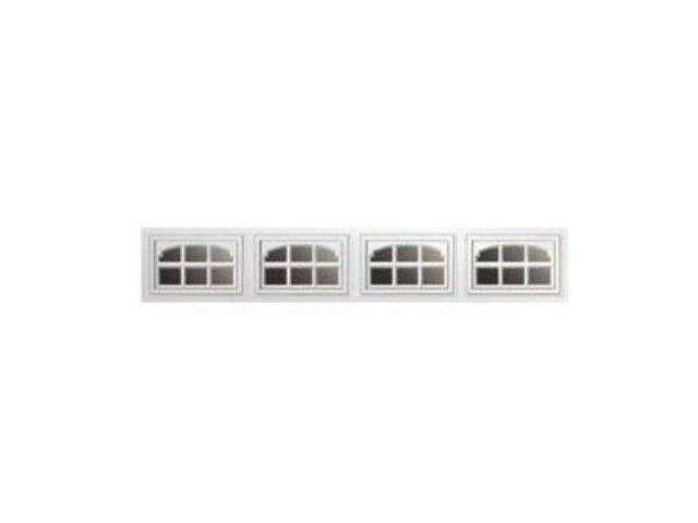 Clopay charleston short 1 pc window inserts white for Clopay window inserts