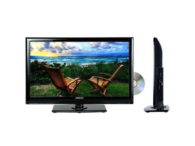 """Axess TVD1801-19 19"""" LED AC/DC TV with DVD Player Full HD with HDMI and Remote"""