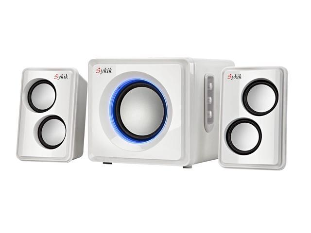 Sykik Sound SP0232WE Bluetooth Wireless 2.1 Ch Multimedia Speaker System - White