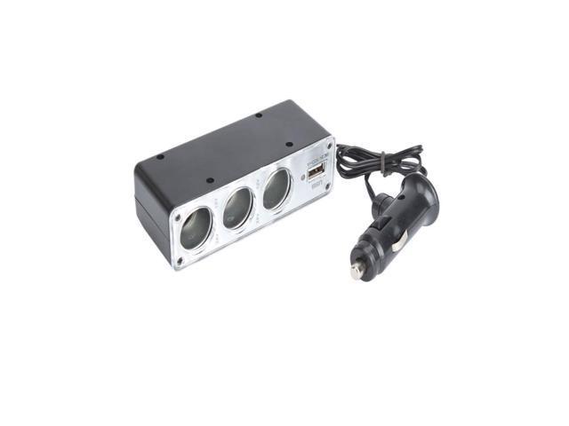 NEW 1  to 3 Car Cigarette Lighter Socket DC Power Adapter Splitter + 1 USB Port
