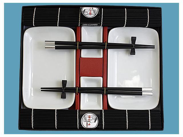 Sushi Dining Set For 2 10's Black