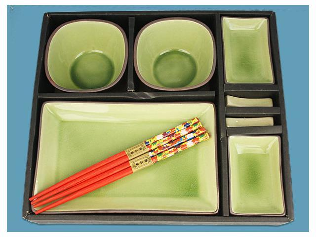 Sushi Dining Set For 2 10's Green