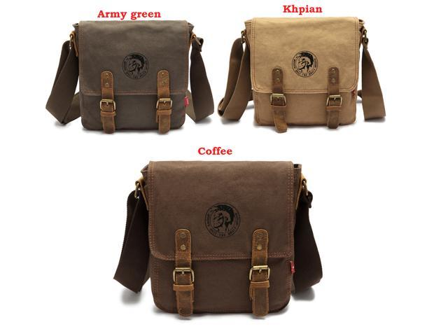 NEW AUGUR Men's Canvas Retro Casual Bag Single Shoulder Messenger Bags