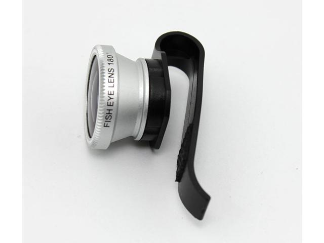 Universal Mobile Phone Detachable Camera Lens External Clip Lens F8002 180 Degree Clip Fish Eye Lens For iPhone iPad