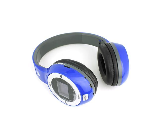 Folding Headset BM-090 Noise Cancelling Stereo Music Headset Headphone long time playback Support TF card with LCD Display