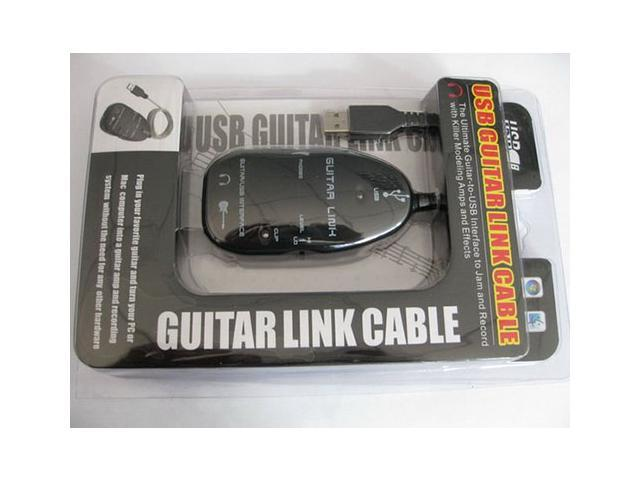 Black USB Guitar Link Cable For PC/Mac Recording USB Interface Audio Link Cable AY07 Turn Your PC into a Guitar Amp and Mini Studio