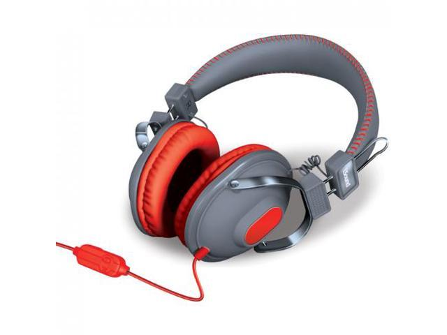 HM-260 Dynamic Stereo Headphones with Microphone - Grey/Red