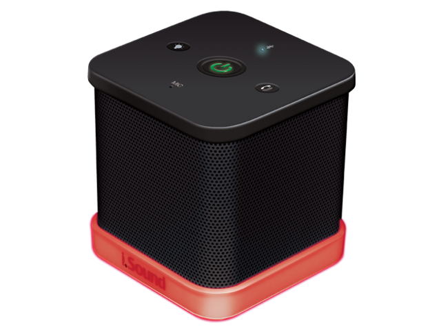 The iGlowSound™Cube Wireless Speaker w/ built-in Speakerphone - Black