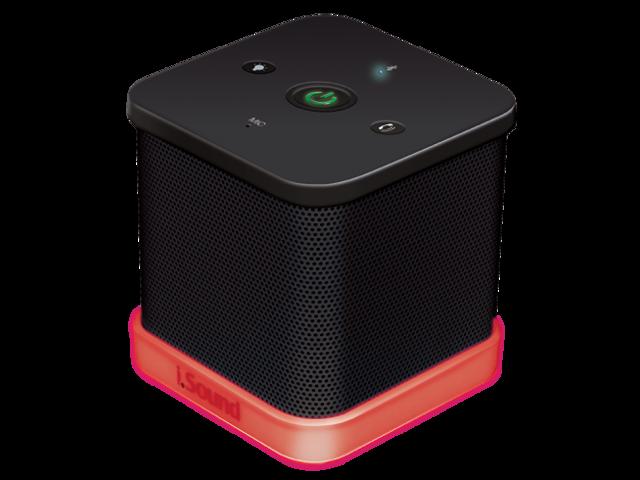 The iGlowSound™Cube Wireless Speaker w/ built-in Speakerphone - Black