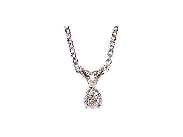 14K Yellow Gold 1/10 ctw Diamond Solitaire Pendant