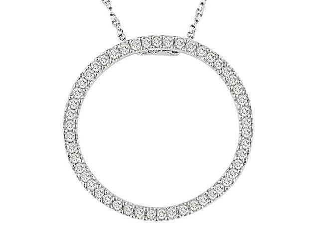 10K White Gold 1/4 ctw Diamond Circle of Life Pendant