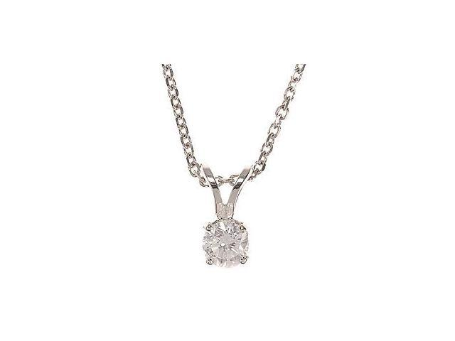 14kt Gold 1/4-ct Diamond Solitaire Pendant