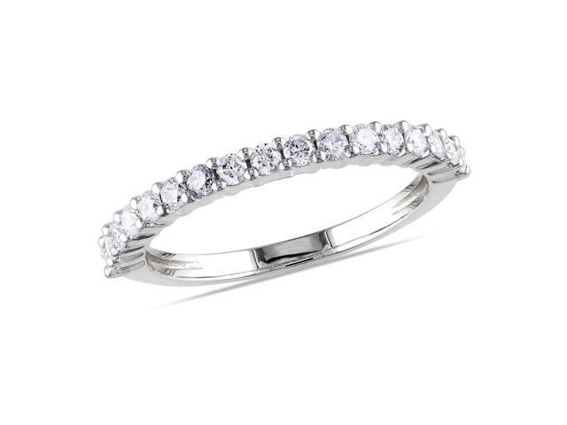 14k White Gold 1/2ct TDW Diamond Eternity Ring (G-H, I1-I2)
