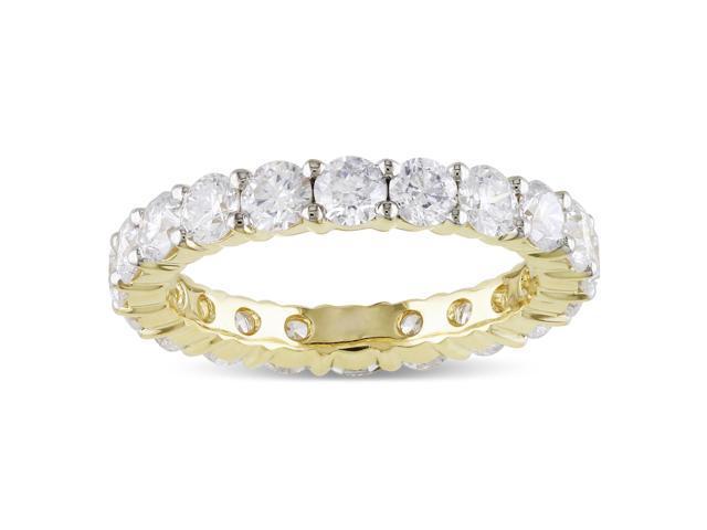 14k Yellow Gold 3ct TDW Diamond Eternity Ring (G-H, I1-I2)