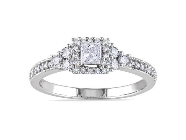 14k White Gold 1/2ct TDW Diamond Ring (G-H, I1-I2)