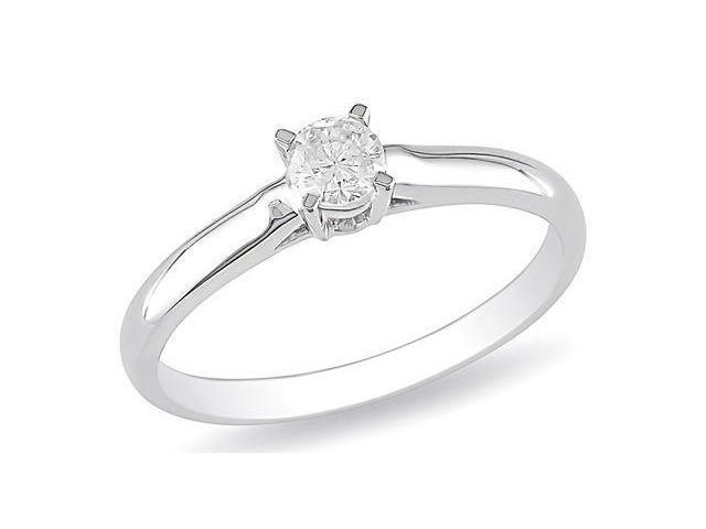 14k White Gold 1/4ct TDW Diamond Solitaire Ring (G-H, I1-I2)