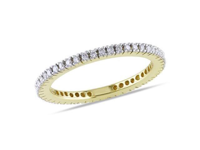 14k Yellow Gold 1/3ct TDW Diamond Eternity Ring (G-H, I1-I2)