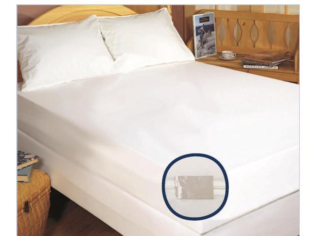 The Bedbug Solution Elite Queen Zippered Mattress / Boxspring Cover - 60 x 80 x 12""