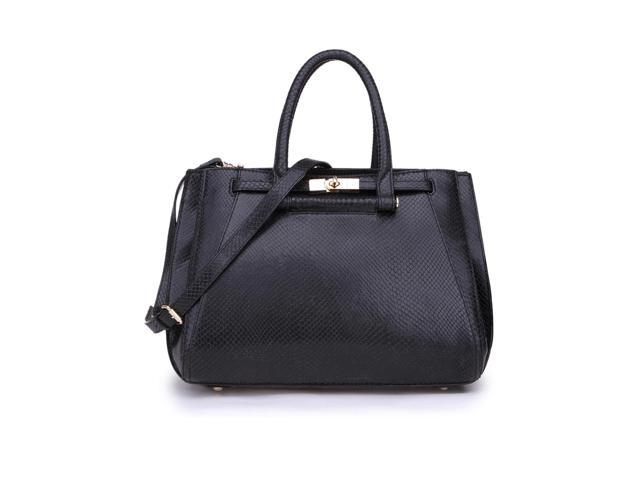 Très Belle Lydia Leather Tote Black