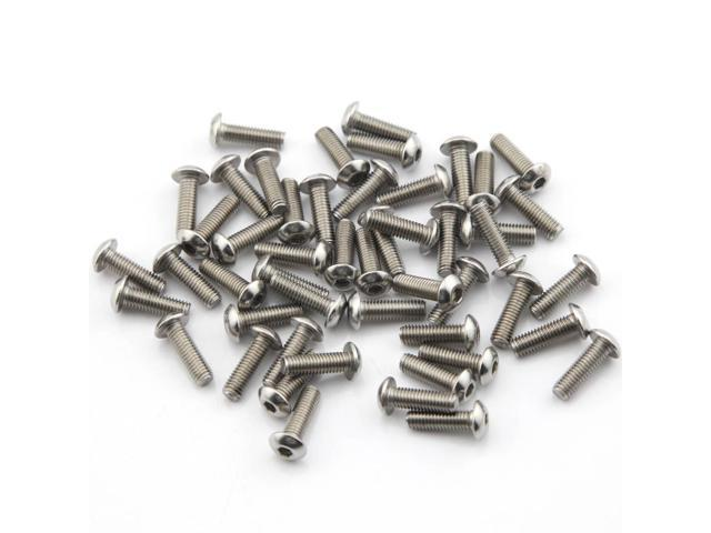 Pack of 50pcs M5*16MM Button Head Hex Socket Cap Screws 304 stainless steel bolts