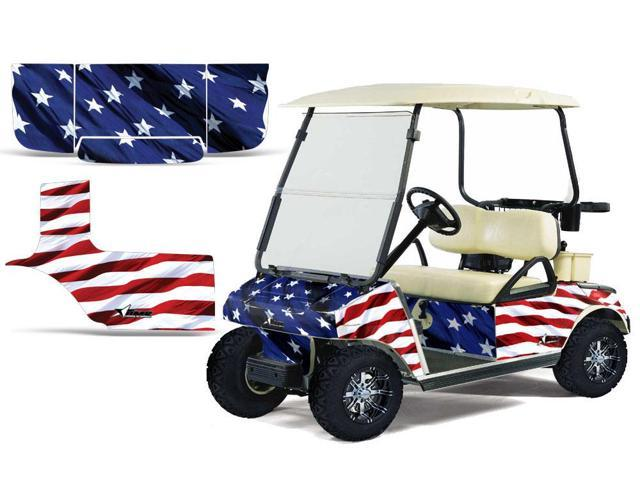 1983 2014 Club Car Golf Cart Amrracing Cart Graphics Decal Kit Stars And Stripes Newegg Com